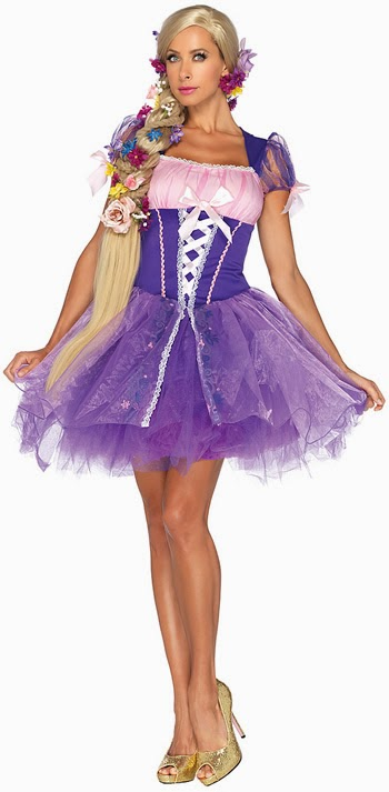 if you want to be a princess for halloween how about rampuzel she is a princess who has not being burned with thousands of costumes