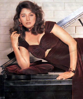 Madhuri Dixit Hot and Sexy Brest Exposing