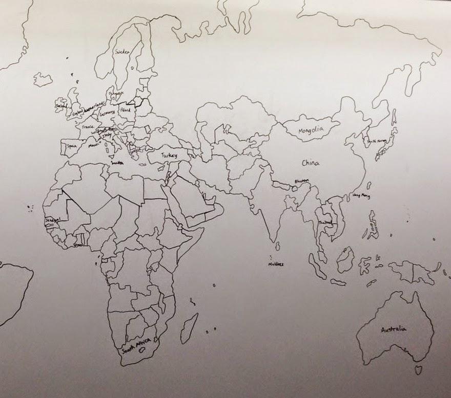 طفل يعاني التوحد بعمر 11 عاما يرسم خريطة العالم بالتفصيل إعتمادا فقط على ذاكرته