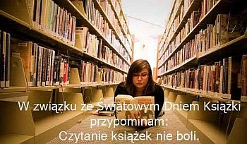 czytanie, światowy dzień książki