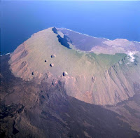 Volcan Ecuador on Isabela Island in Galapagos Islands