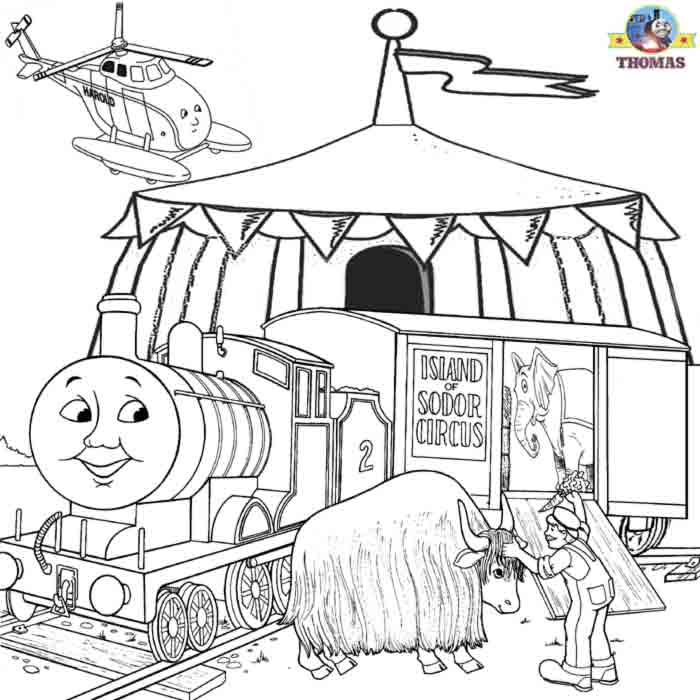 coloring pages circus train - photo#22