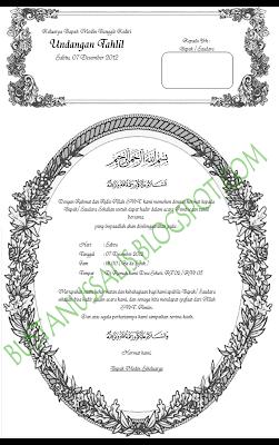 ... undangan Walimatul Ursy, tahlil dan Aqiqah dengan format .docx ( Ms