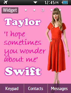 Other Latest Taylor Swift Samsung Corby 2 Theme Wallpaper