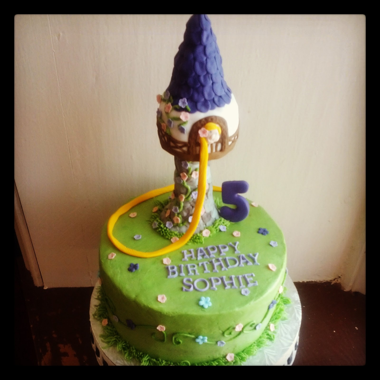 Second Generation Cake Design Rapunzel Tower Birthday Cake