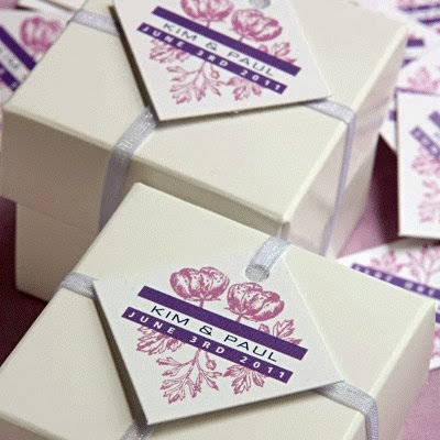 Beautiful Bridal: Diamond Shaped Wedding Favor Tags