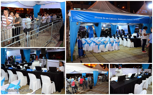 The crowd all set to enter and register their latest and greatest iPhones with Celcom First