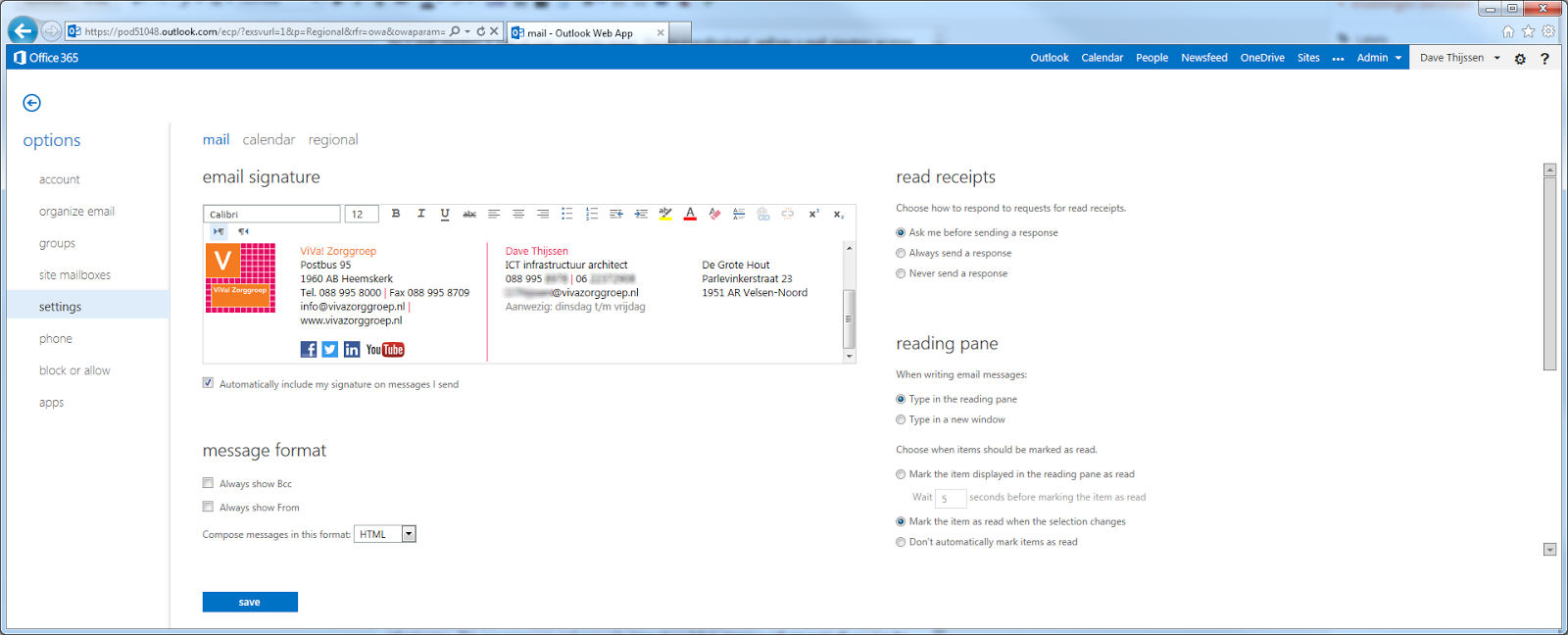 outlook 365 online