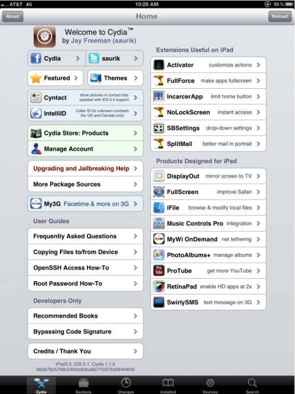 the new ipad jailbroken screenshot