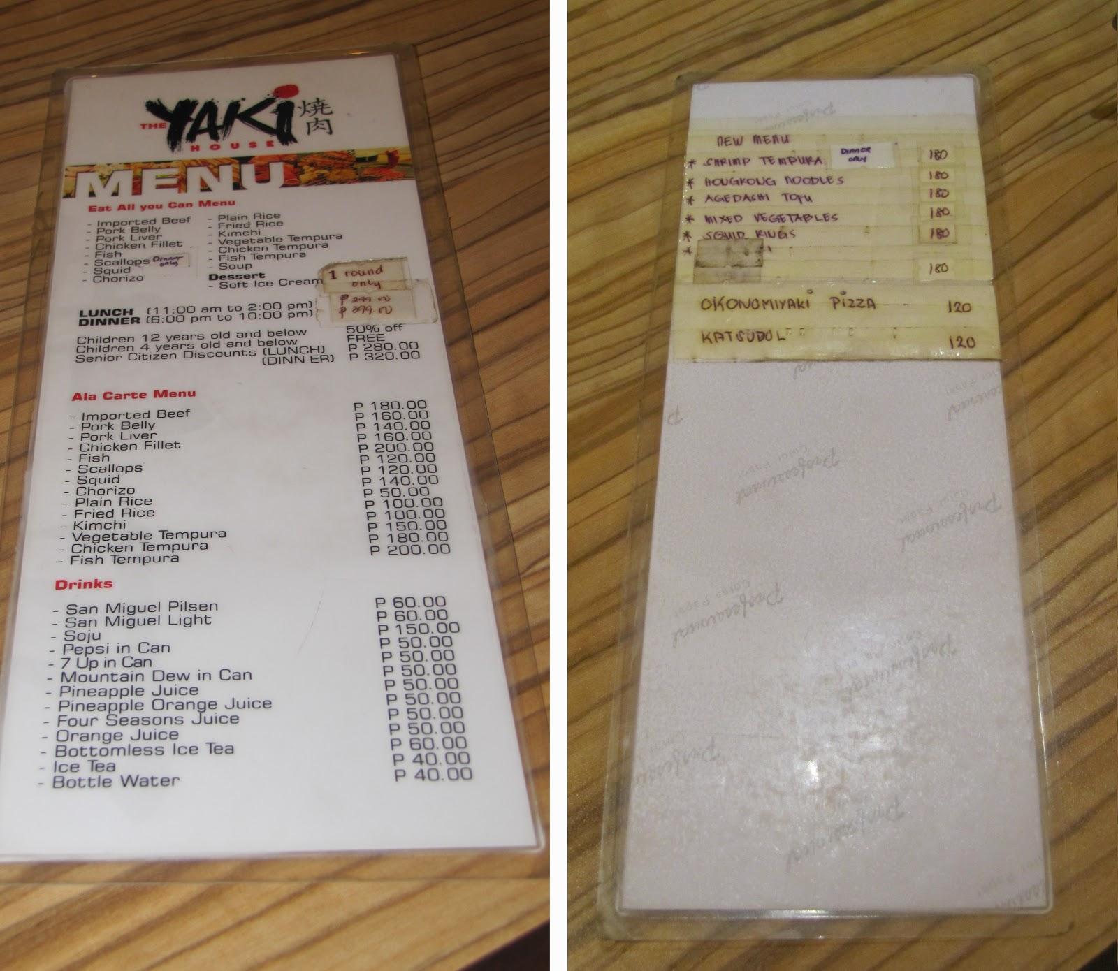 #032eatdrink, food, cebu, japanese food, japanese cuisine, japanese buffet, yakiniku, the yaki house menu
