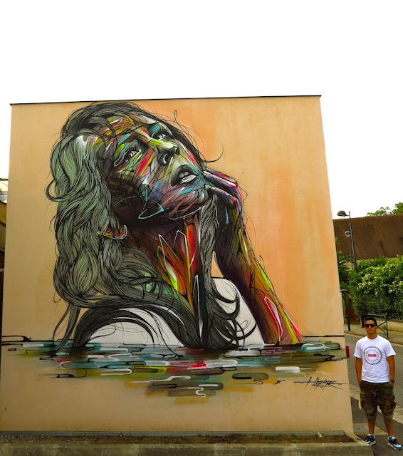 Street Art, Graffiti Art, Hopare, France, Street Art in France