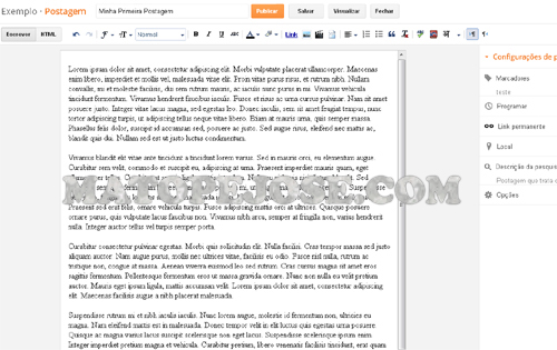Editor de Postagens do Blogger