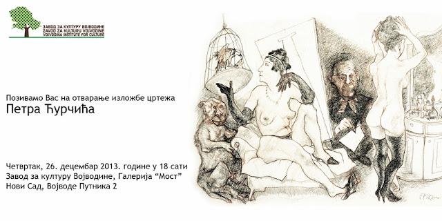 Izložba crteža Petra Ćurčića u Zavodu za kulturu Vojvodine