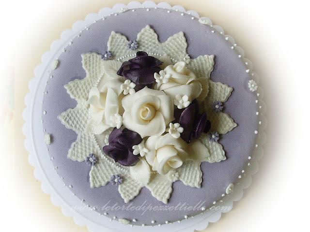 (PDZ) Rose viola e bianche
