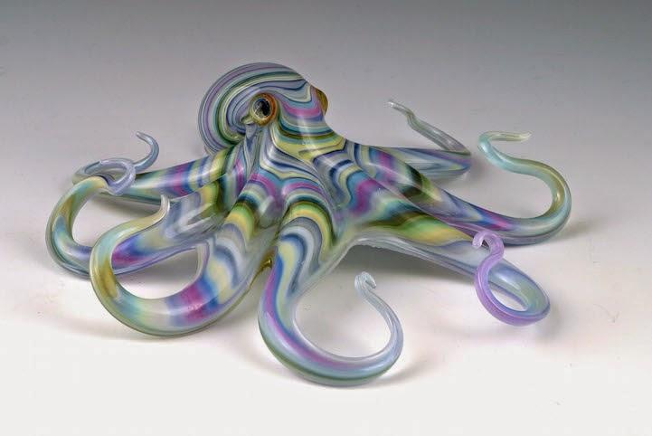hand blown glass creatures sculptures scott bisson