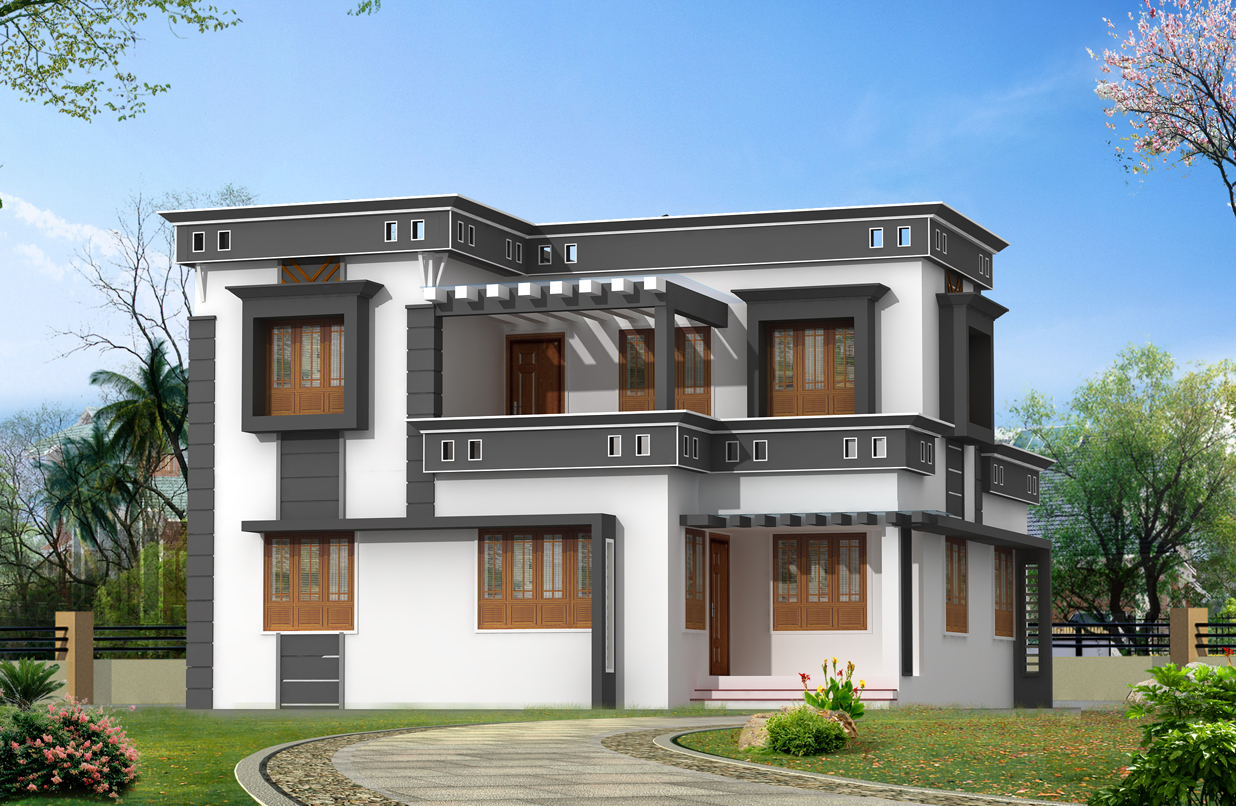 New home designs latest : Beautiful latest modern home