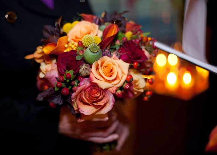 fall flowers, fall bridal bouquet