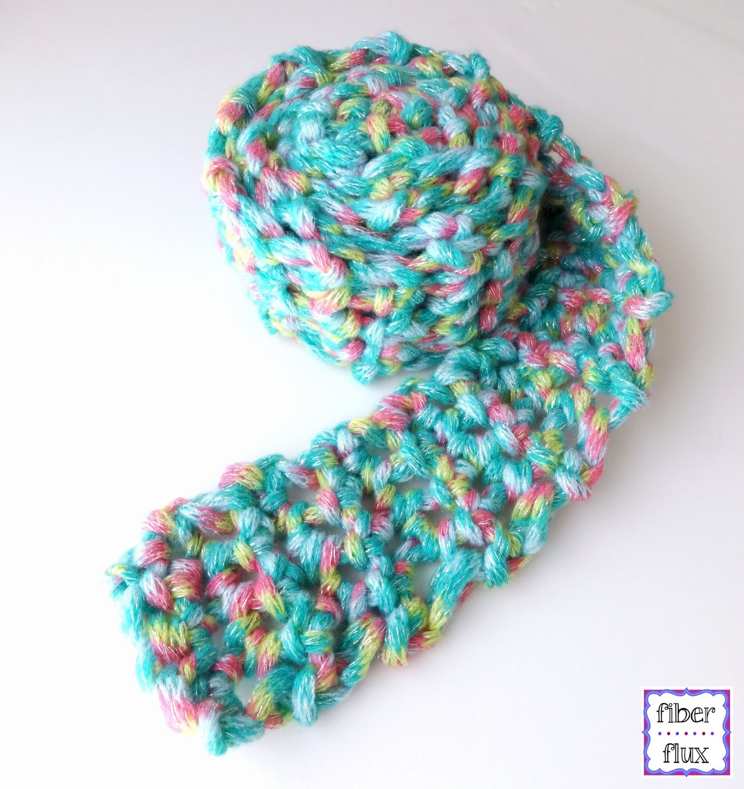 Fiber Flux: Free Crochet Pattern...Fun Finger Crochet Scarf for Kids!