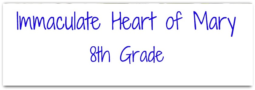 Immaculate Heart of Mary 8th Grade