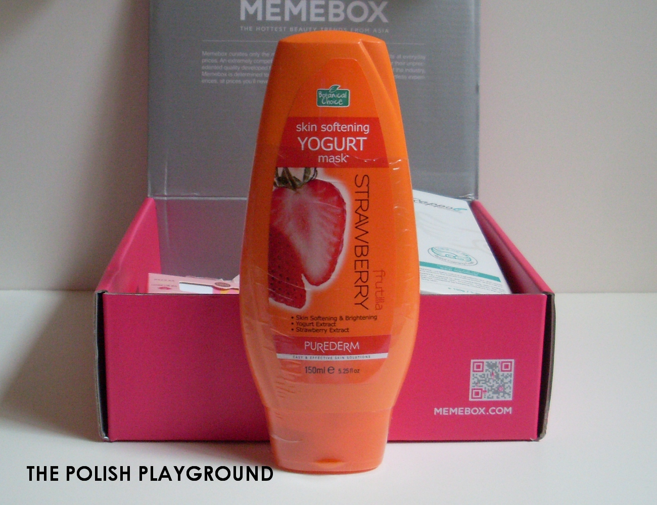 Memebox Superbox #54 Yogurt Cosmetics Unboxing - Purederm Skin Softening Yogurt Mask Strawberry