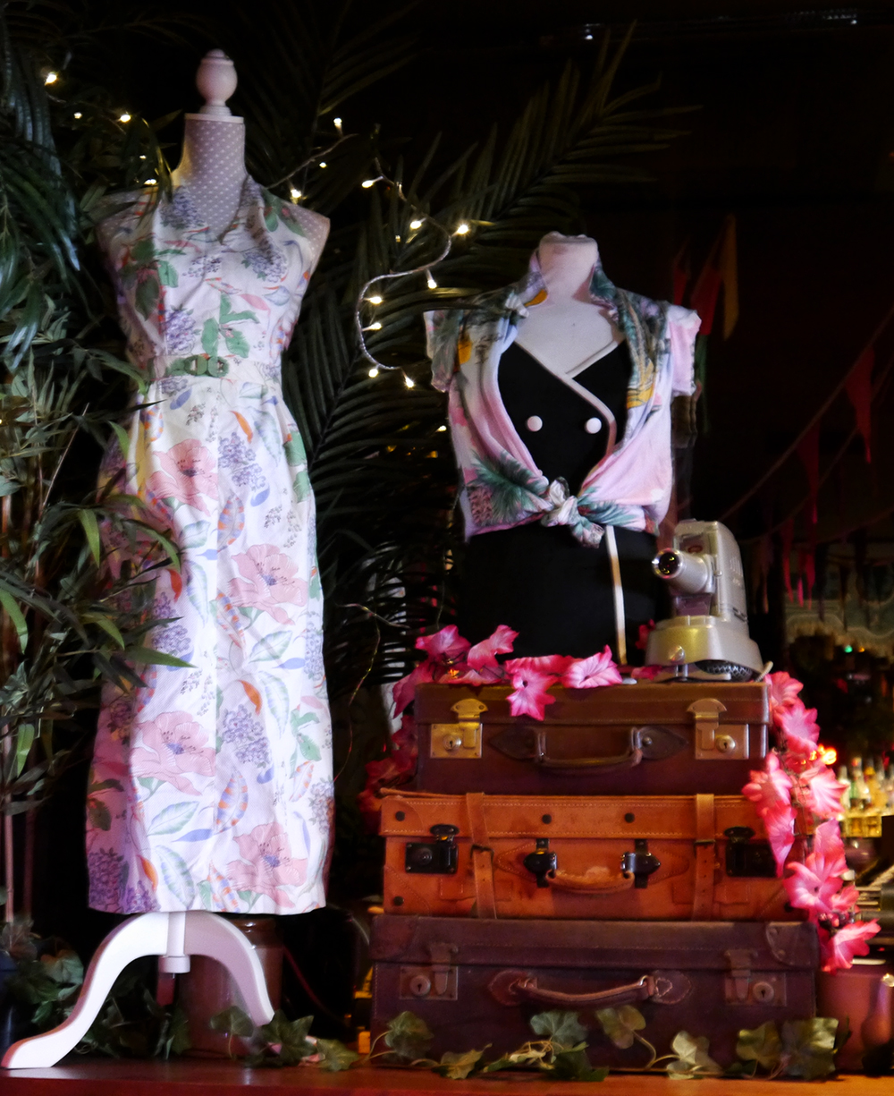 Pearl Harbour, style, fashion, vintage, war, visual merchandising, display, Paradise Palms, Edinburgh, Zomato