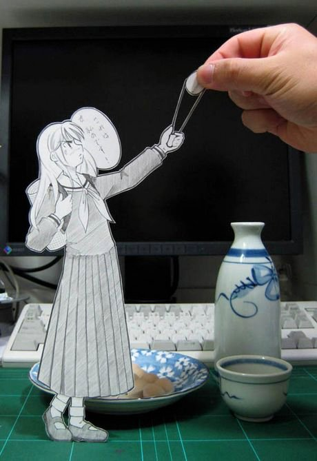 Figuras Anime en papel. 281426_10150263581009819_213182229818_7284185_292873_n