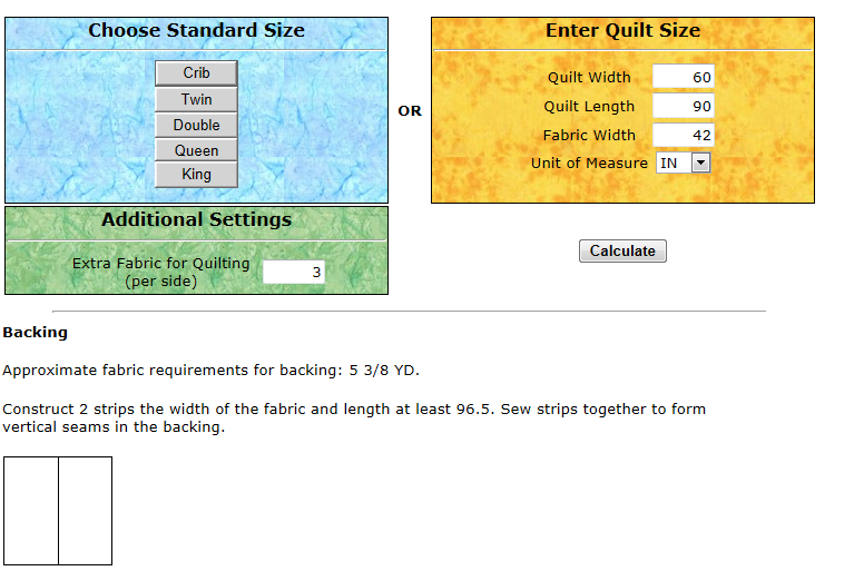 MyWebQuilter.com: Quilt Backing Calculator Update : quilt fabric calculator - Adamdwight.com