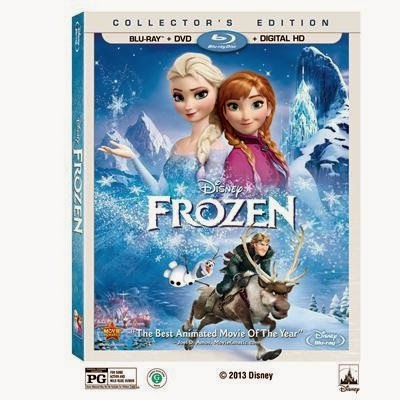 Frozen On Blu Ray DVD Combo Pack