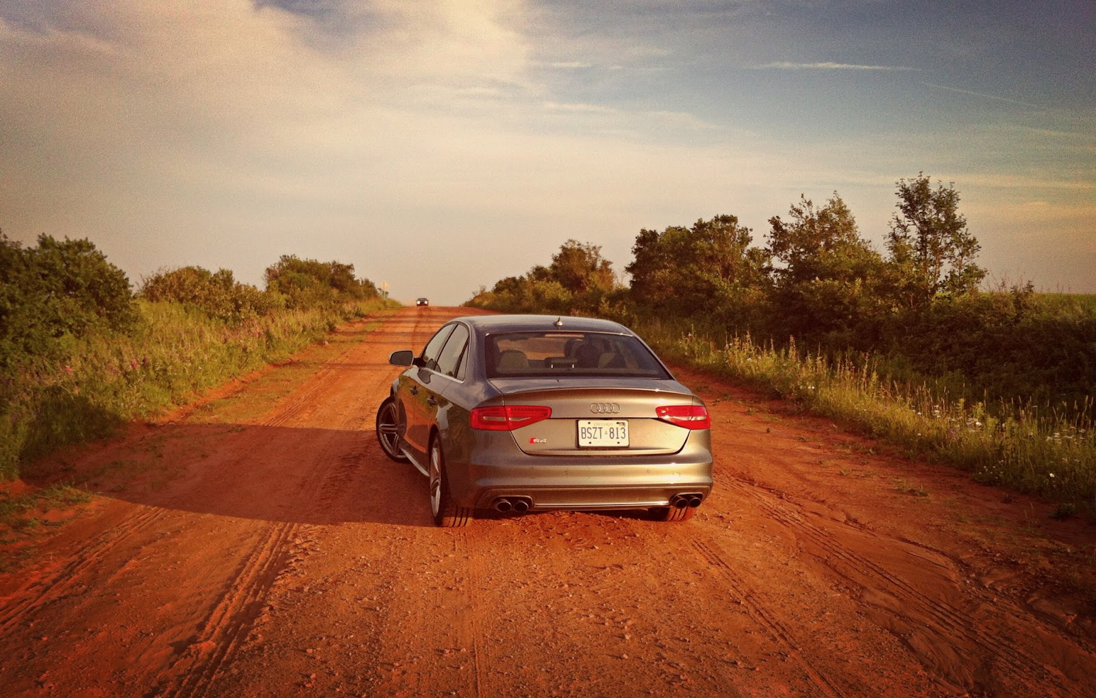 2014 Audi S4 red dirt road PEI