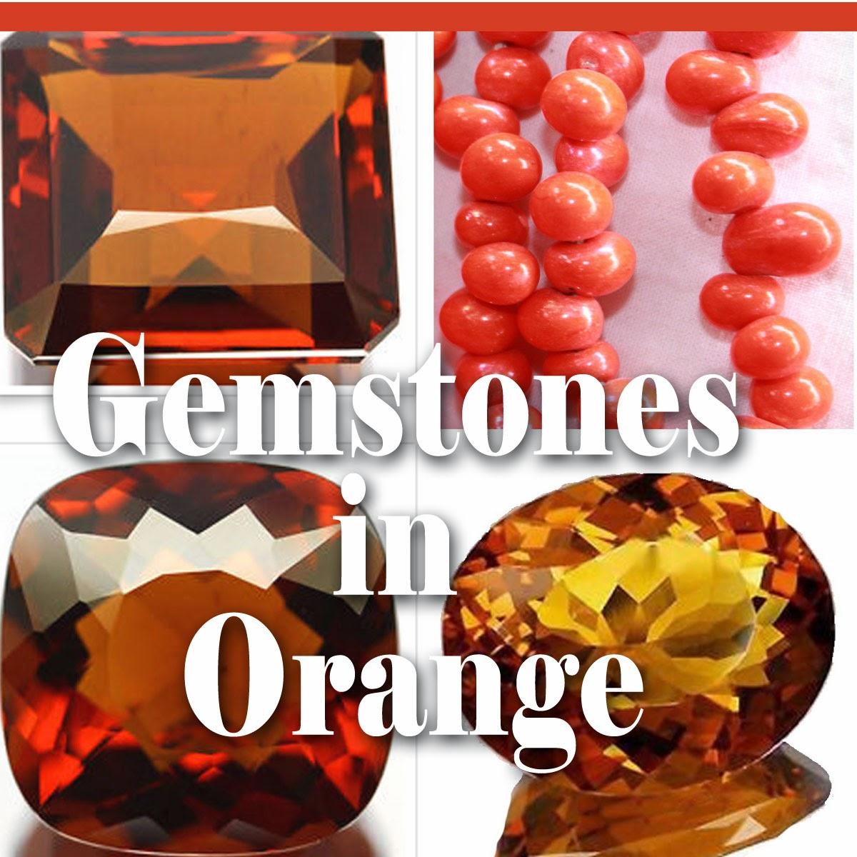 gemstones in color orange