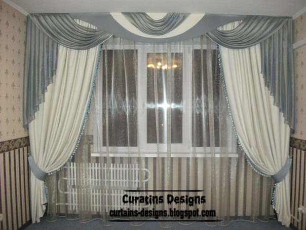 Unique curtains designs, grey and white curtain styles