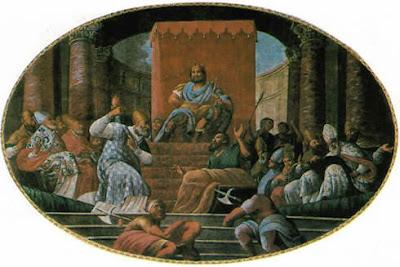 Saint Nicholas punched Arius.