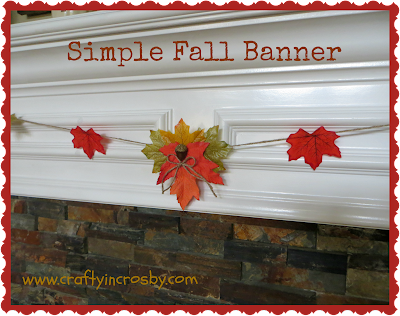 leaf angels, acorns, Thanksgiving Banner, easy fall banner