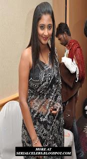 Kanika in low hip saree