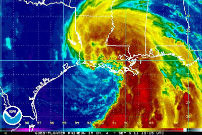 >Tropical Storm Lee Brings Huge, Long Duration Soaker to Louisiana (& South), Will Be Slow to Make Landfall