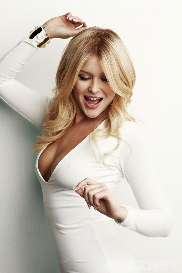 Renee Olstead dancing in a tight white dress, Buzznet Photoshoot 2012