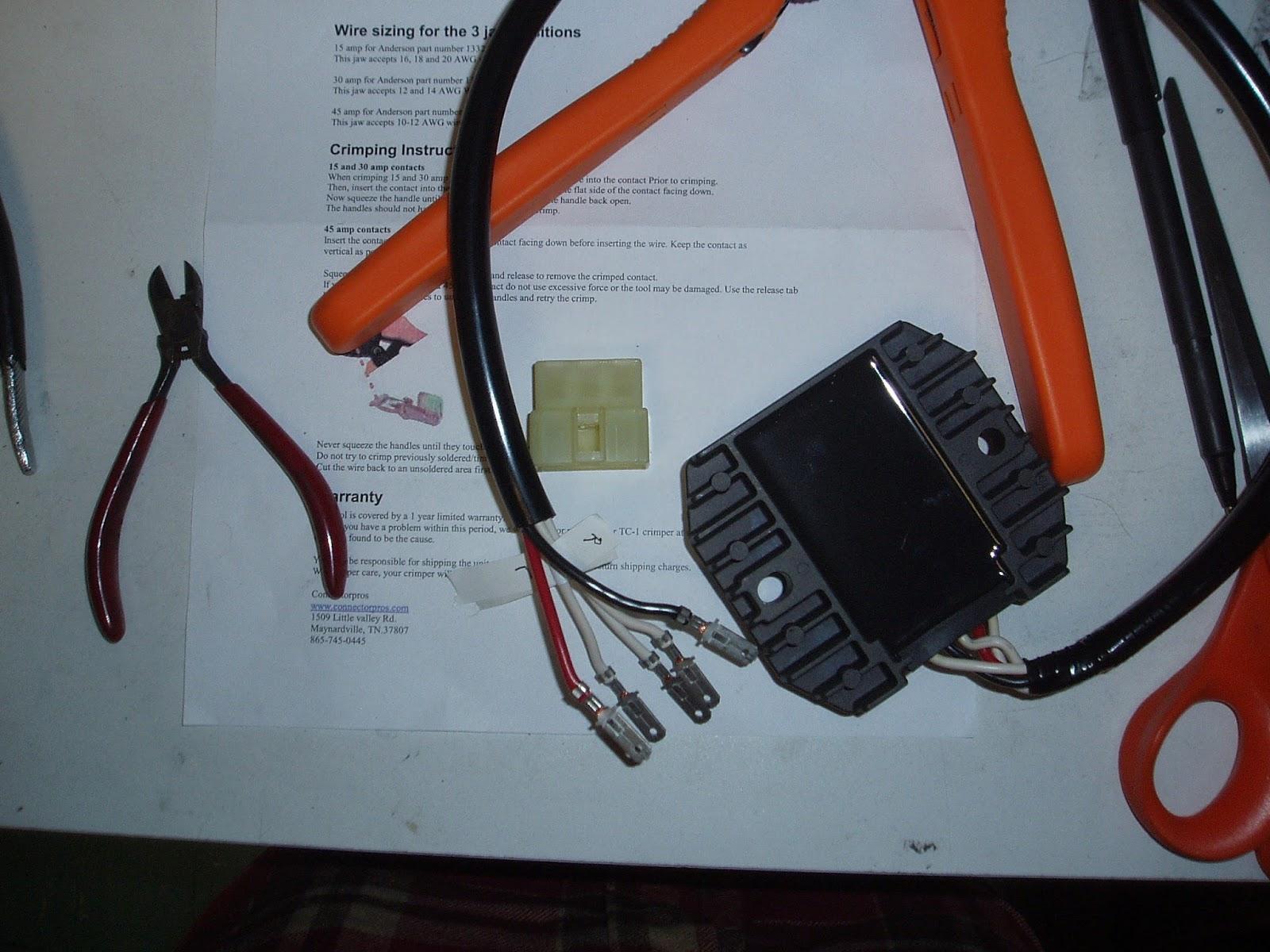 Bandit Files: Eskort\'s FZ1 R/R Connector Fix, Day 2