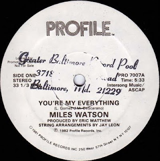 MILES WATSON - YOU'RE MY EVERYTHING (SINGLE 12'') (1982)