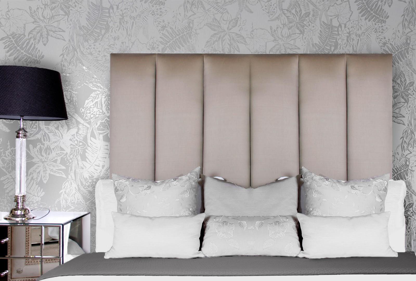 Bed head design wallpaper in your bedroom for Bed head design images