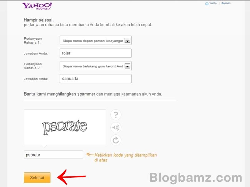 Cara Membuat Email Baru melalui Yahoo