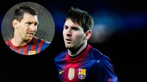 Lionel Messi New Hairstyle 2012 2013