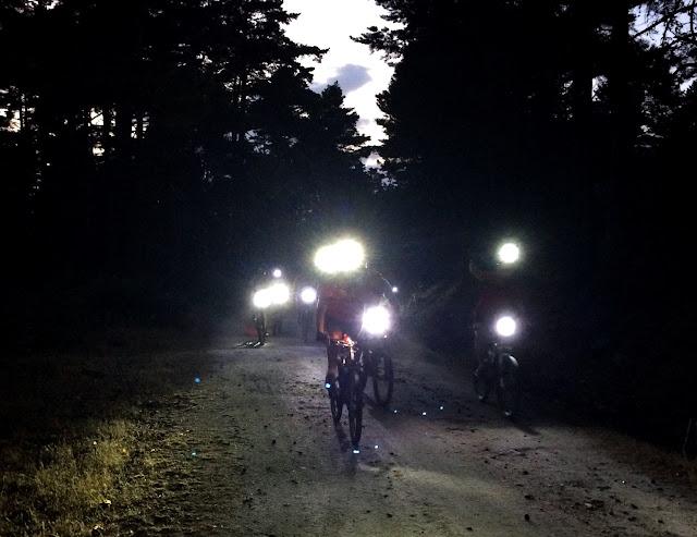 Marcha MTB Nocturna en El Espinar - AlfonsoyAmigos