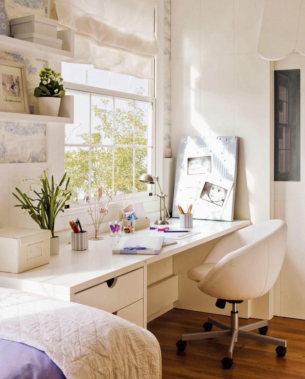 Decora tu vida diy un escritorio zona de ordenadores - Mesas para dormitorio ...