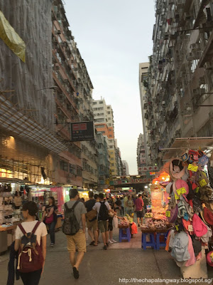 fa yuen kai at dusk, view of hong kong night market, fa yuen street night market, ladies market alternative, shopping in fa yuen street, explore hong kong, travel, sightseeing in hong kong, tourist recommendations