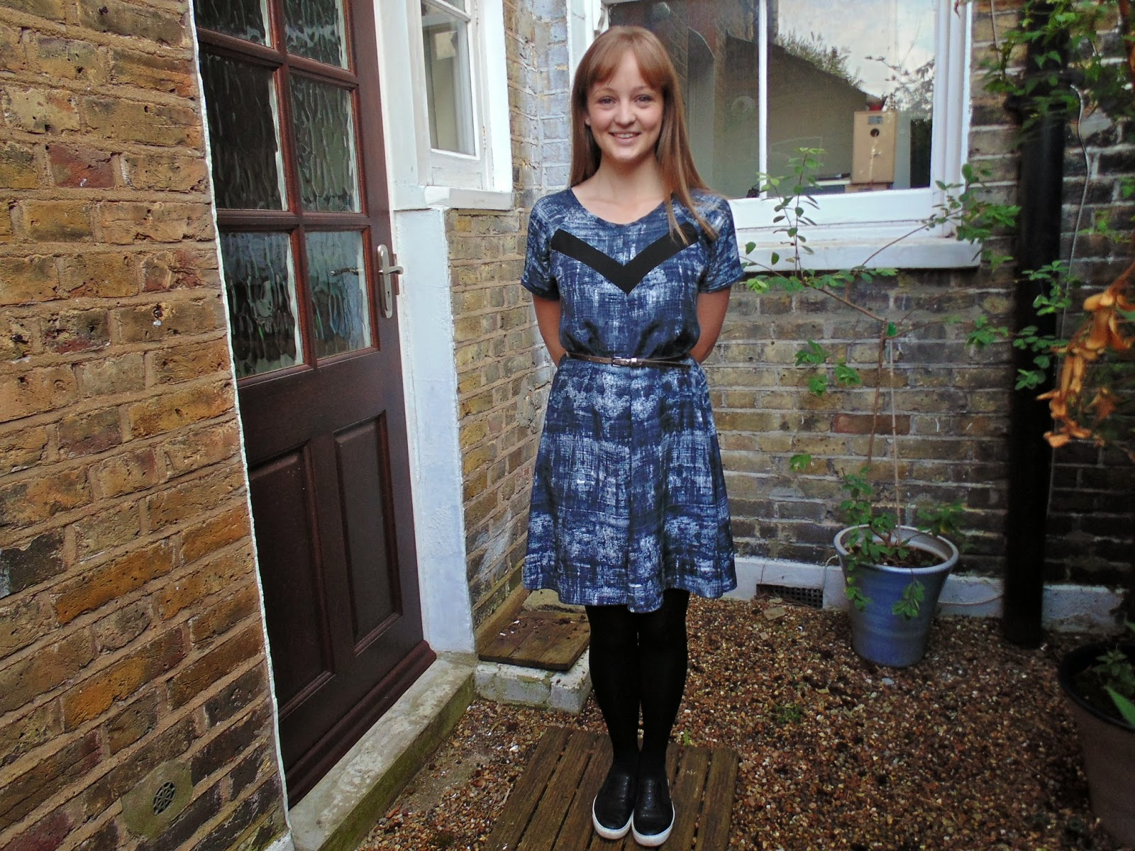 Diary of a Chain Stitcher: Papercut Patterns Clover Dress in a Monochrome Printed Viscose