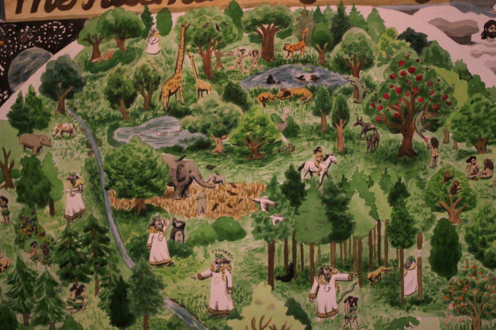 Jazz Greenhill Illustration The Garden Of Eden Map