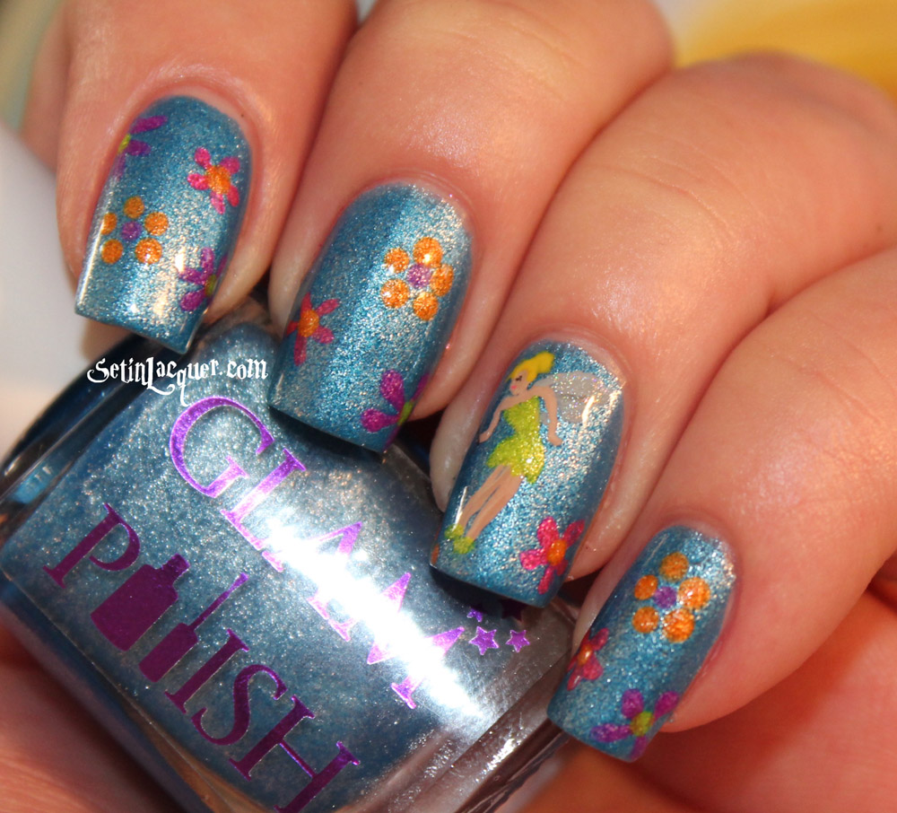 Pixie Hollow Tinkerbell nail art - Set in Lacquer
