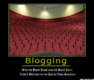 Blogging:With the right stage and the right voice there's no limit to the size of your audience