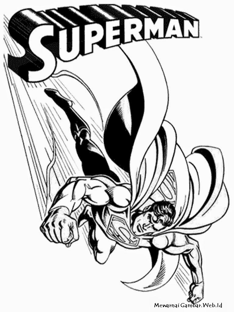 Gambar Mewarnai Pepaya Lucu Gelas Diwarnai Rebanas Superman Cangkir