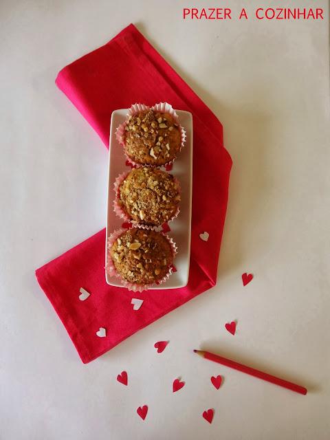prazer a cozinhar - Muffins de amêndoa com curd de limão